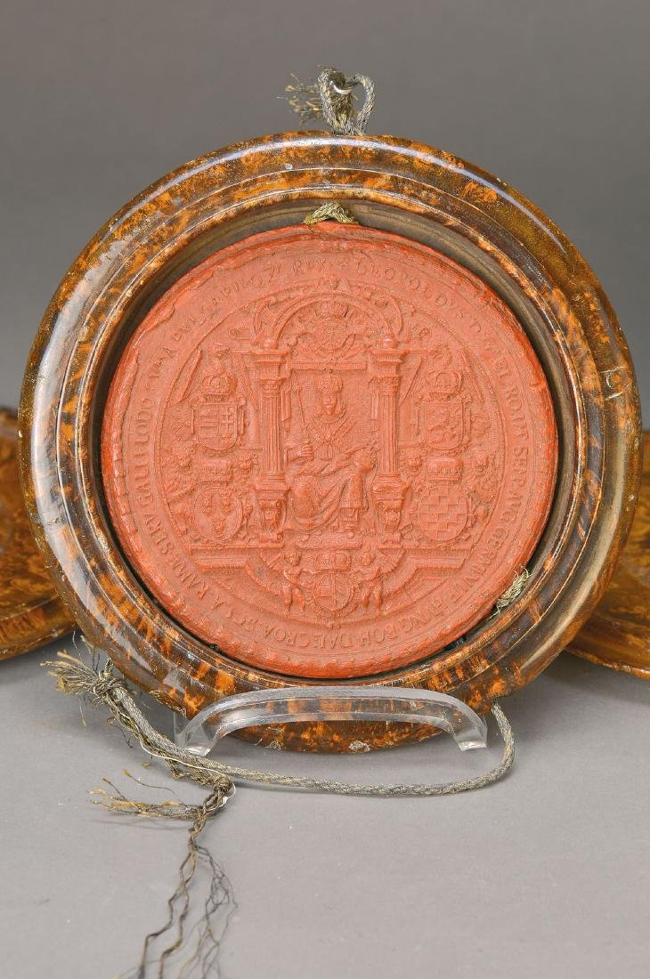 Wax seal, Emperor Leopold - 2