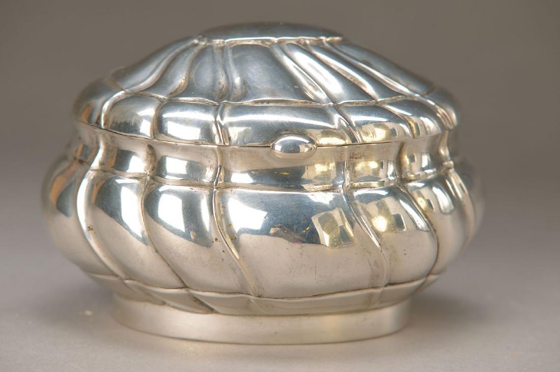 sugar bowl, silver