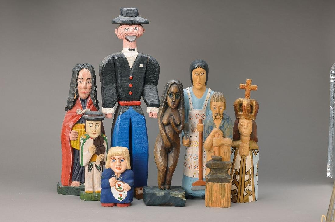 16 wood carvings