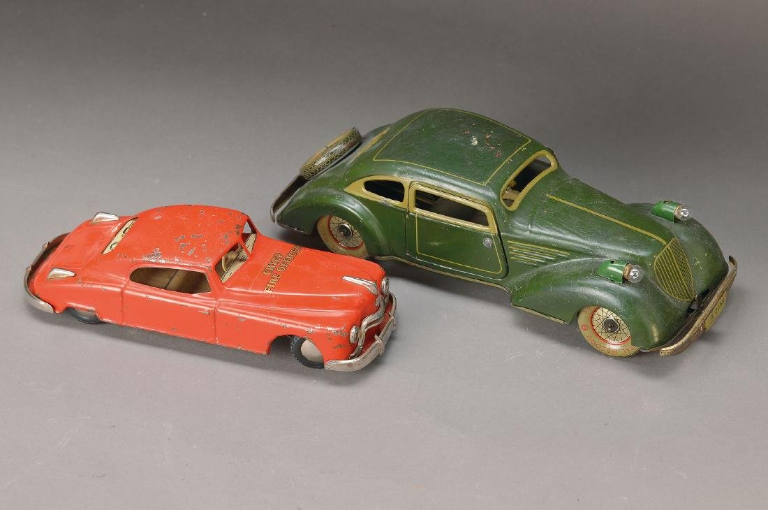two iron sheet cars