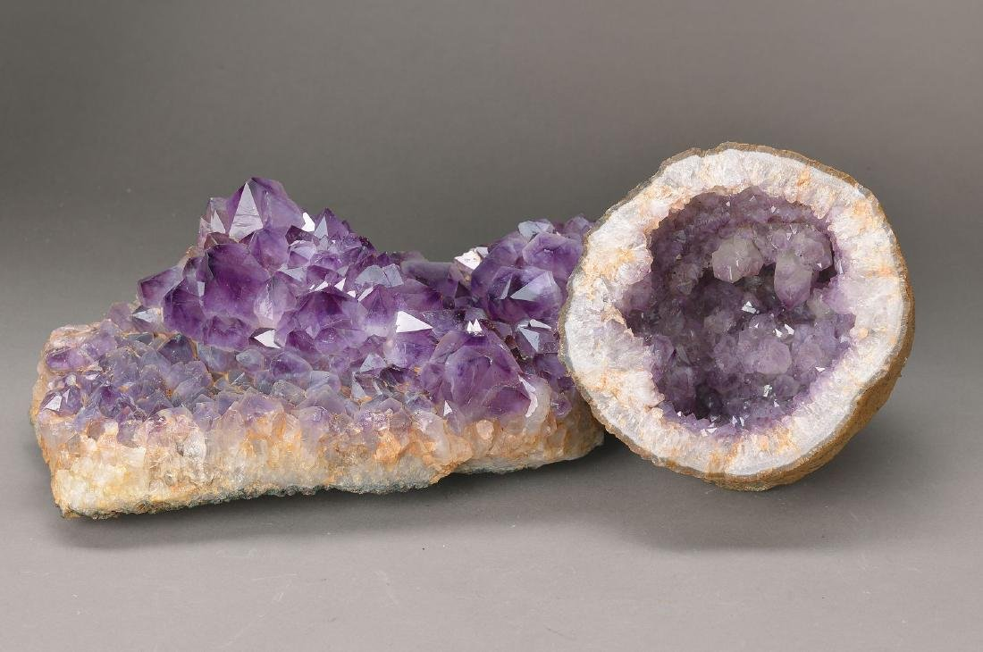 two large Amethyst Druses