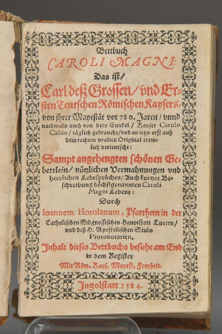 Bettbuch Caroli Magni