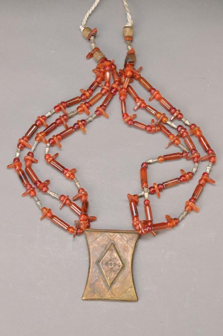 carnelian pompous necklace