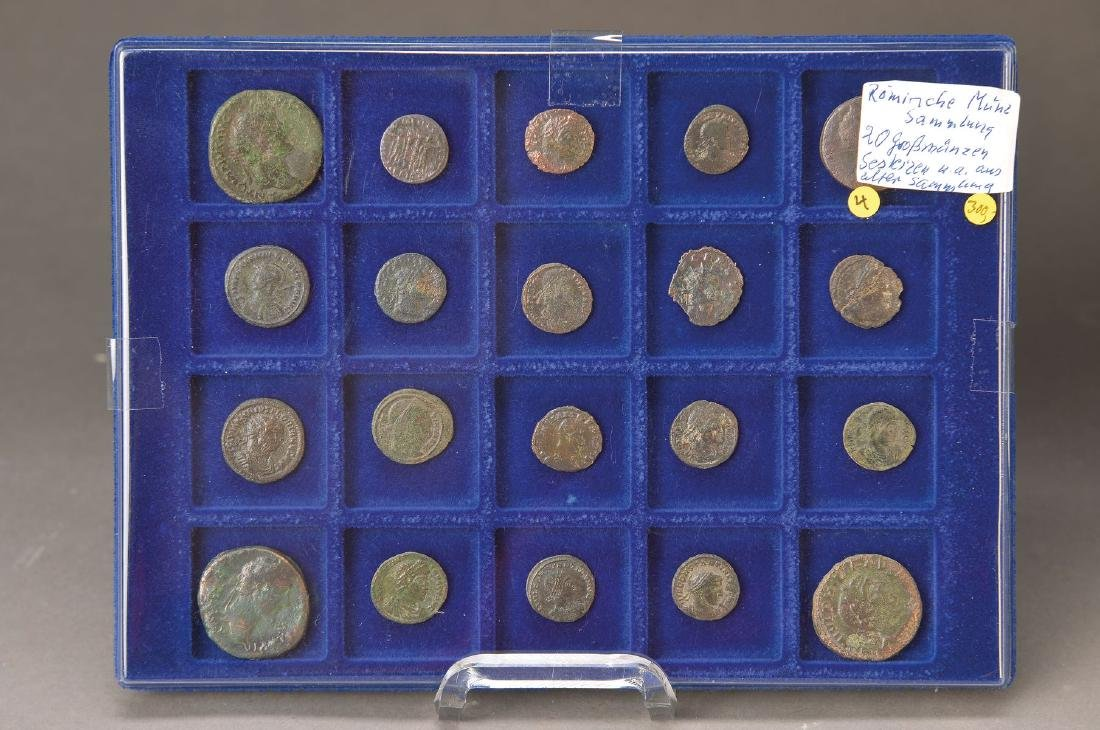 20 roman large coins