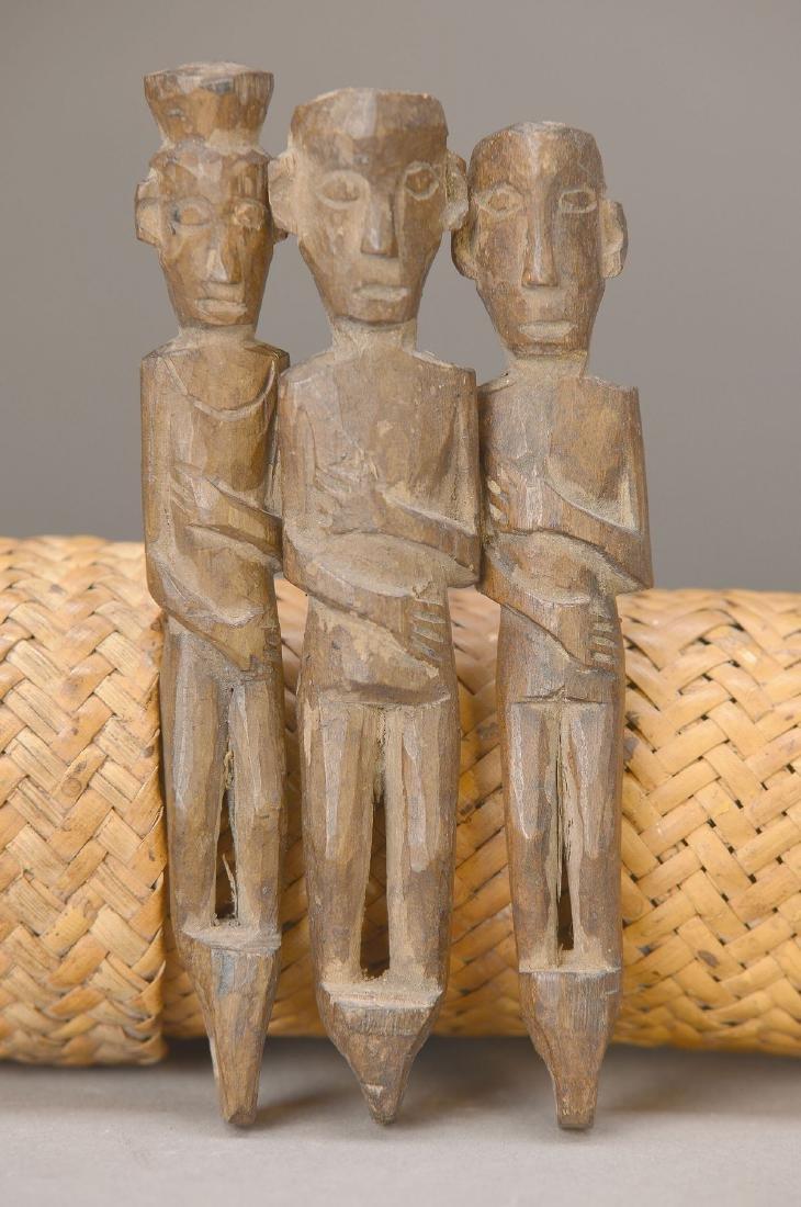 3 ancestor sculptures