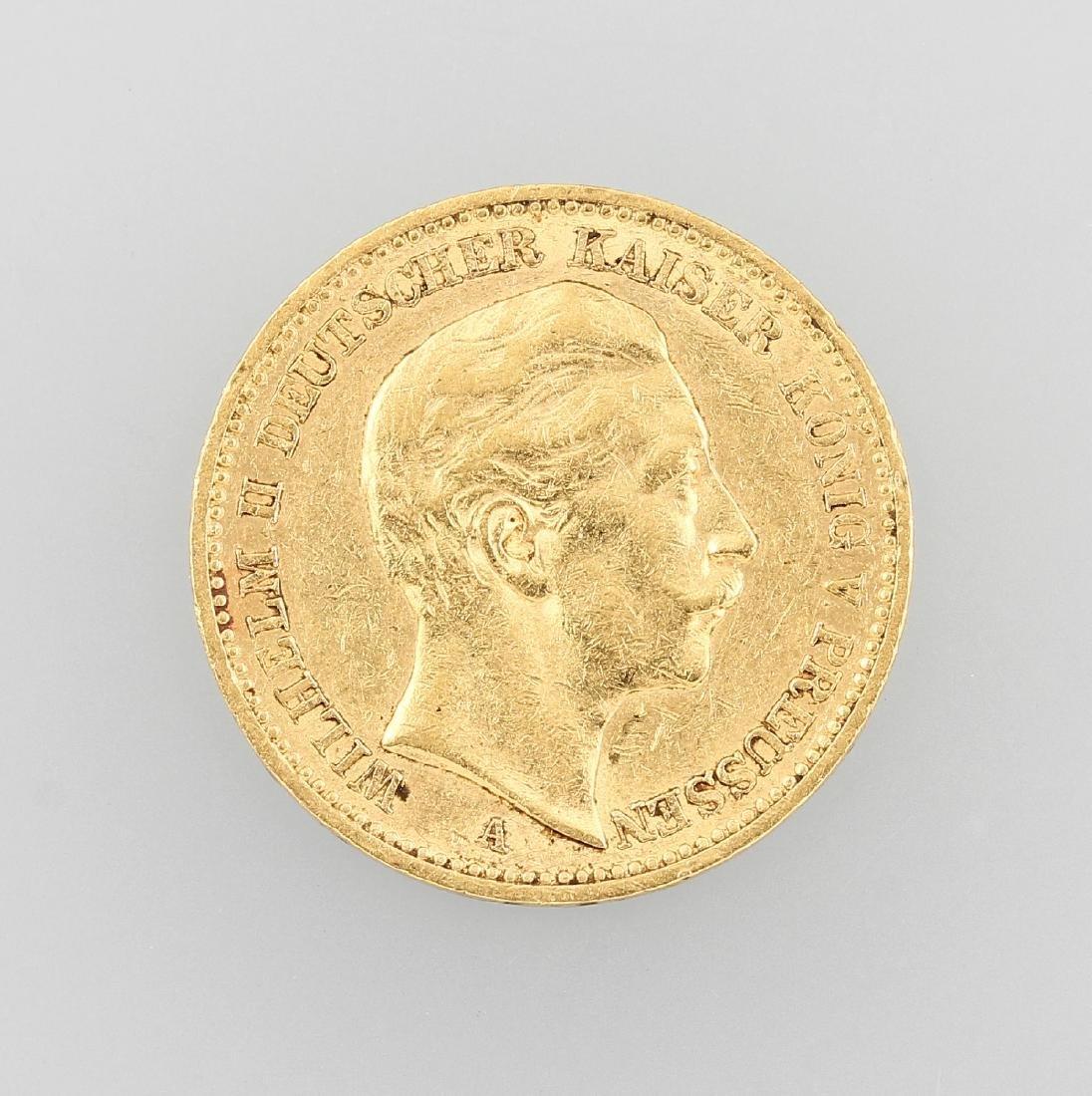 Gold coin, 20 Mark, German Reich
