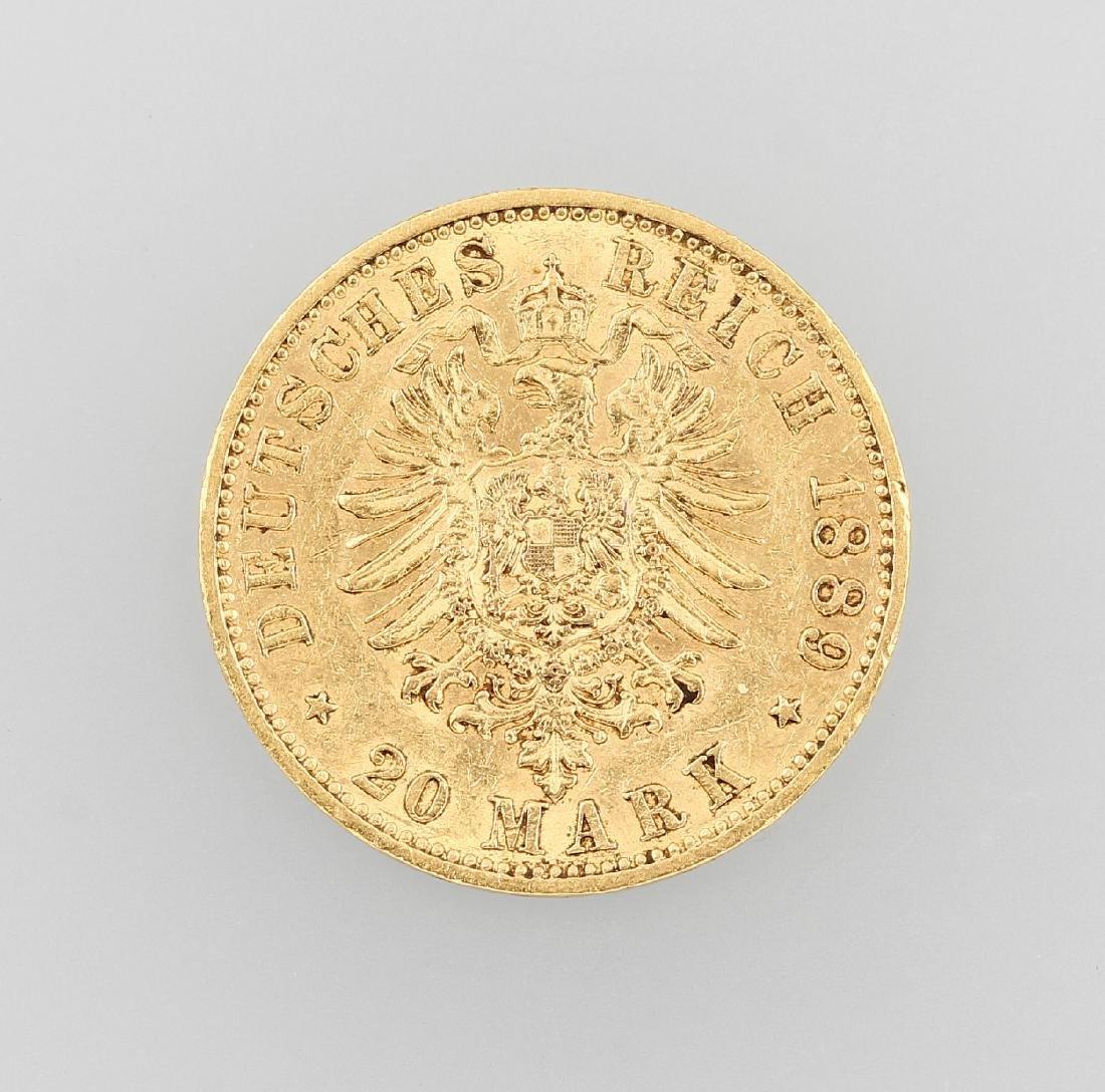 Gold coin, 20 Mark, German Reich - 2