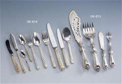 134-part CHRISTOFLE table service, France, silver