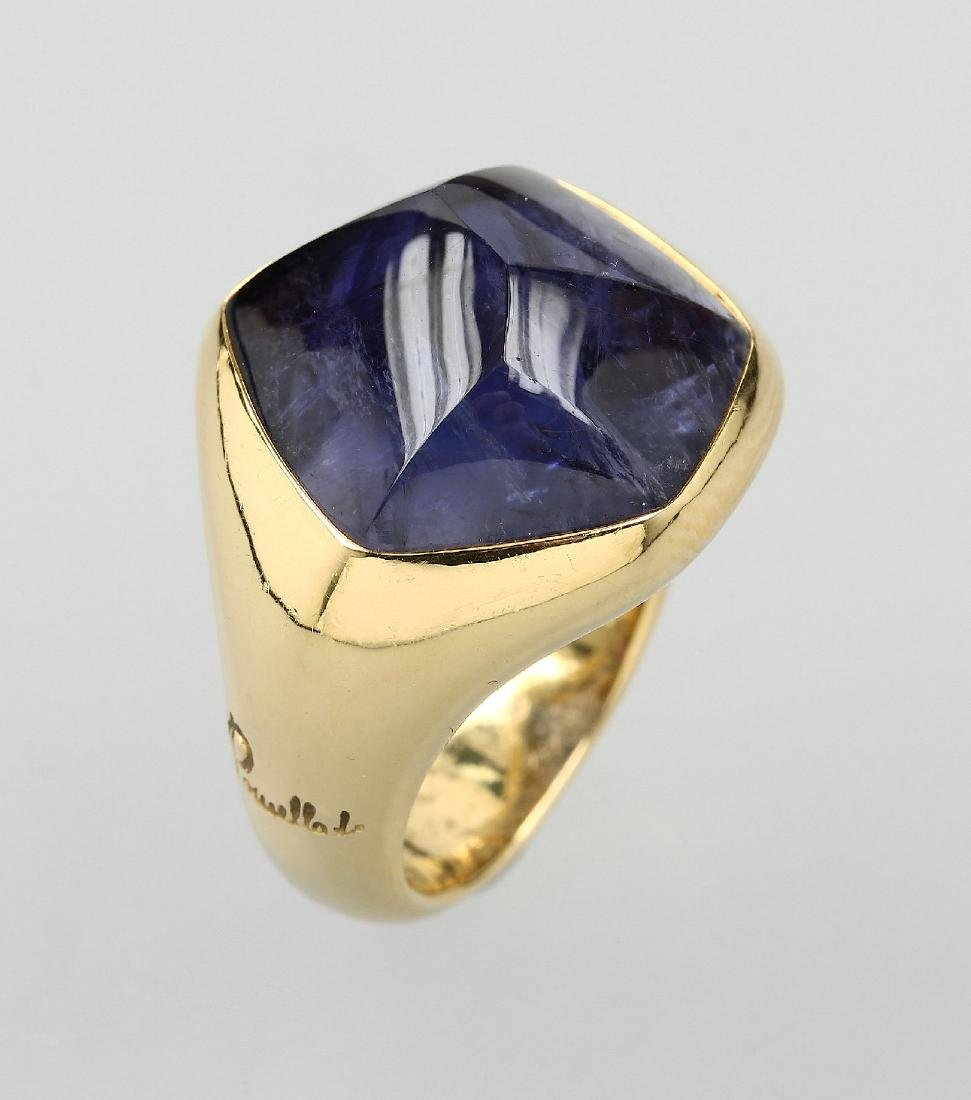 18 kt gold POMELLATO ring with iolite