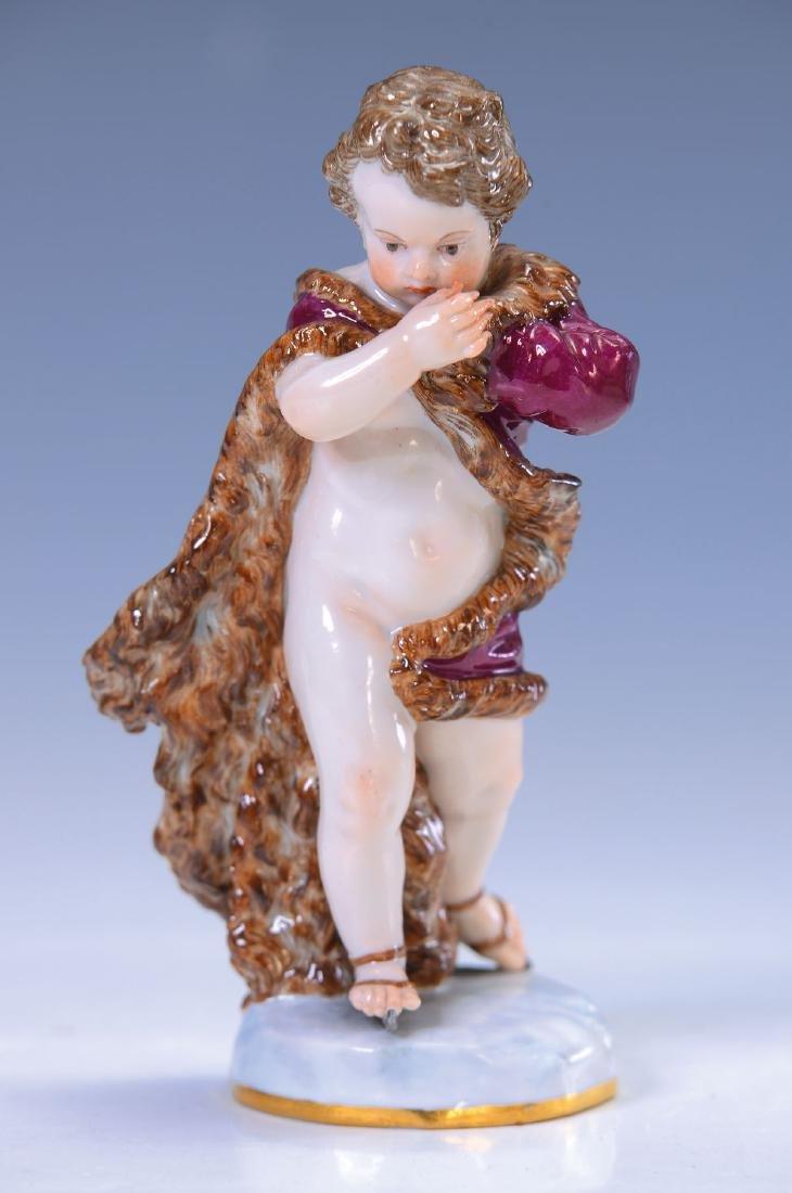 figurine, Meissen, around 1880, allegory on the Winter