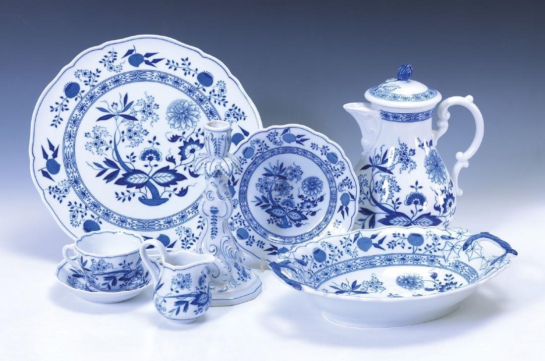 coffee set, Hutschenreuther, 20th c., Blue Onion