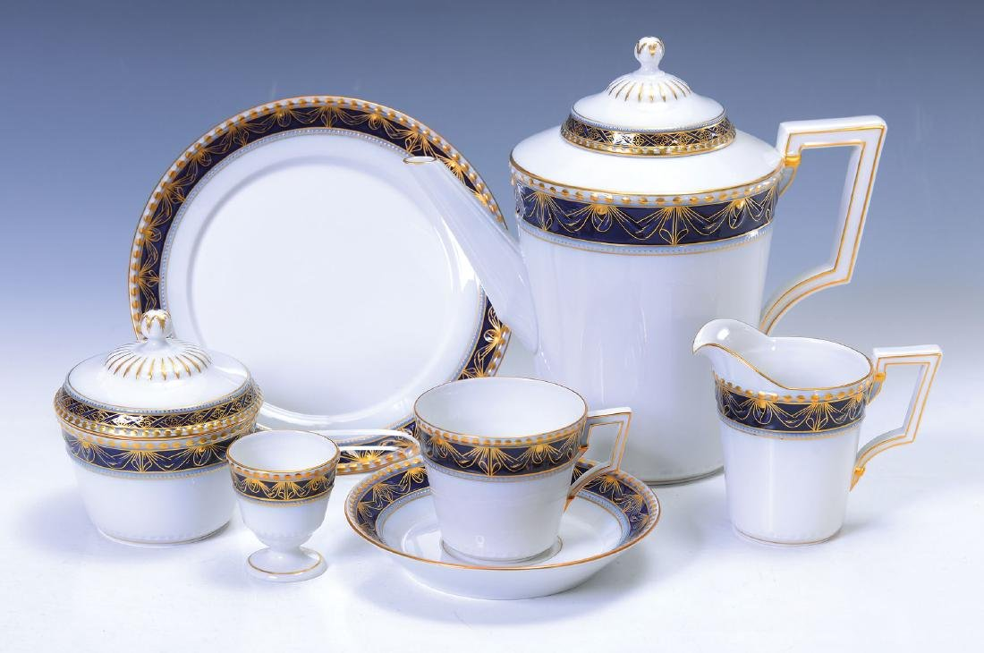coffee set, Model Kurland, for 4 people, cobalt blue