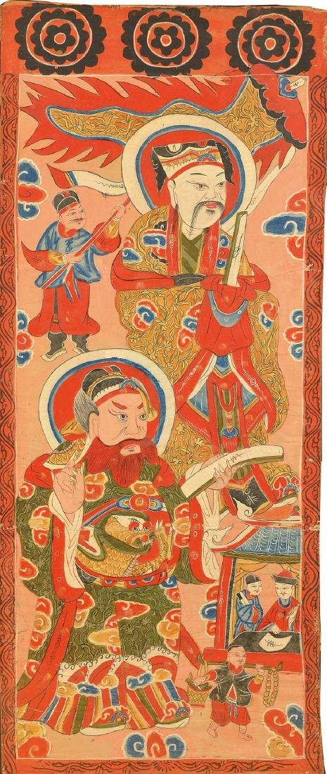 Tao-painting, China, around 1870/1880, Gouache