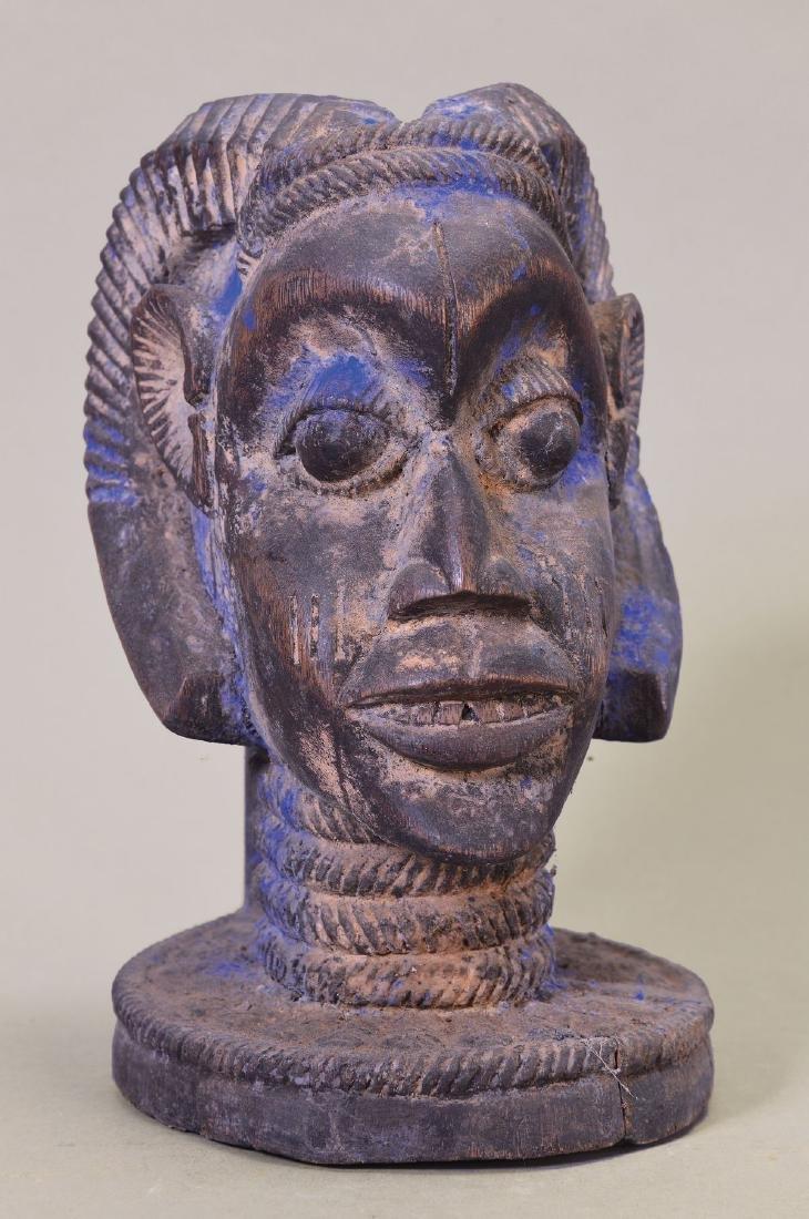 Cap-Mask, Yoruba, Nigeria, allusion at antelope