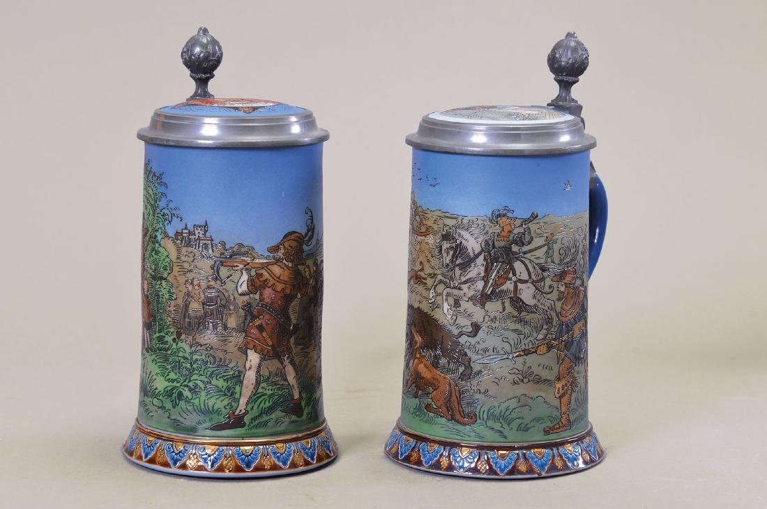 couple of steins, Villeroy and Boch, around 1892 and