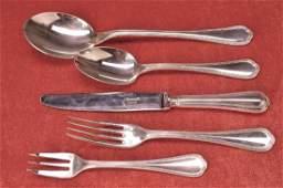 extensive Flatware, Christofle, Spatours, silver