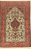 'Part-Silk' Isfahan 'Davari' Rug (Signed),