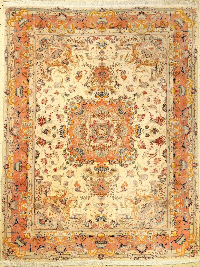 'Part-Silk' Tabriz Rug,