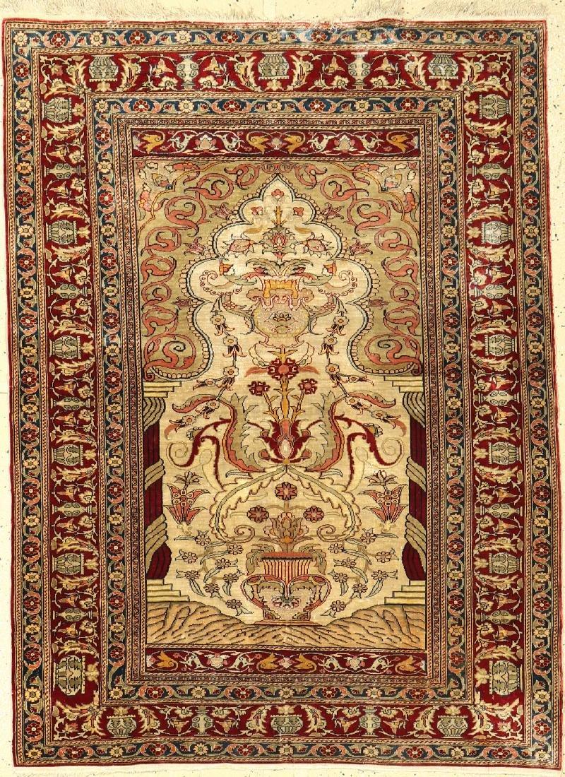 Silk & Metal-Thread Istanbul Rug,