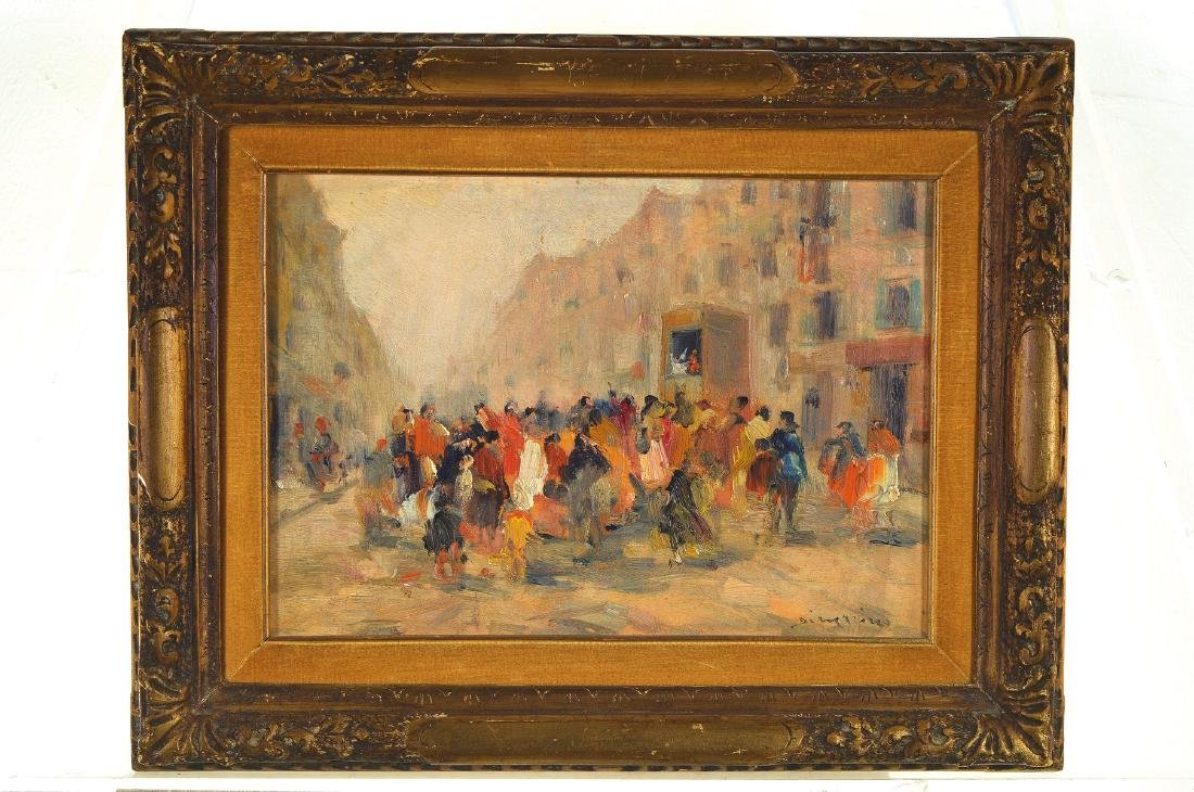 Francesco di Marino, 1892-1954, People on the street in - 3