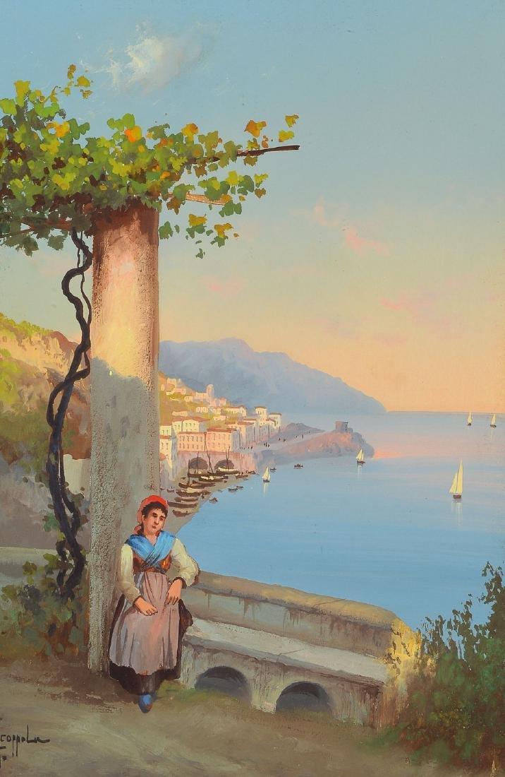 Antonio Coppola, 1850-1902, view of the Amalfi Coast