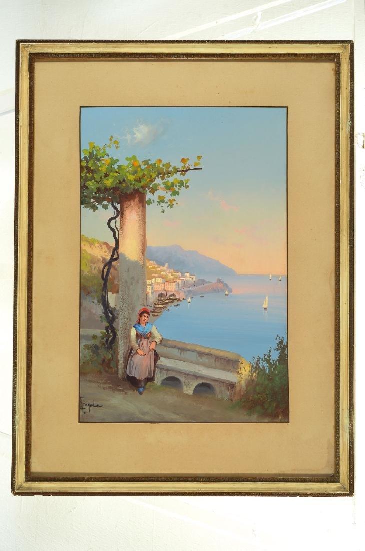 Antonio Coppola, 1850-1902, view of the Amalfi Coast - 3