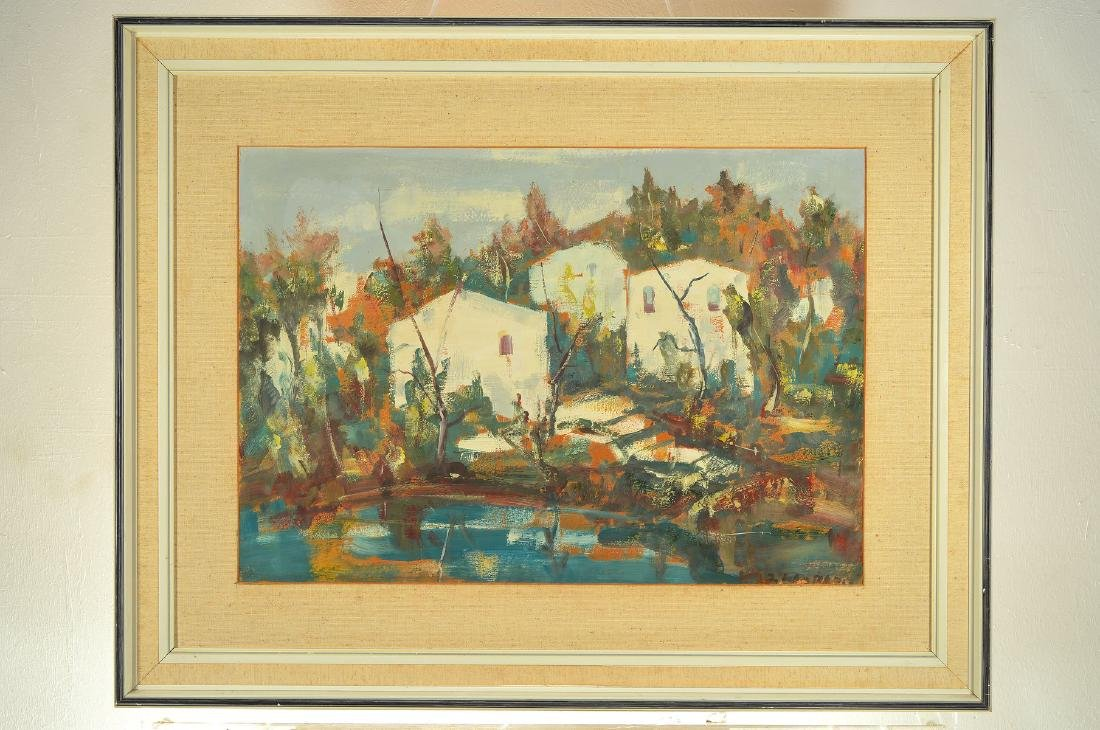 Unidentified artist, mid-20th century, houses behind - 3