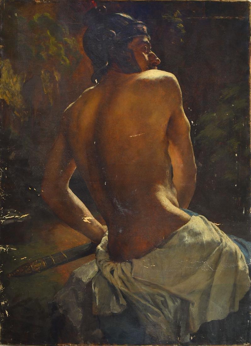 Emil Keck, 1867 Wildpoldsried-1935 Munich, Backstroke