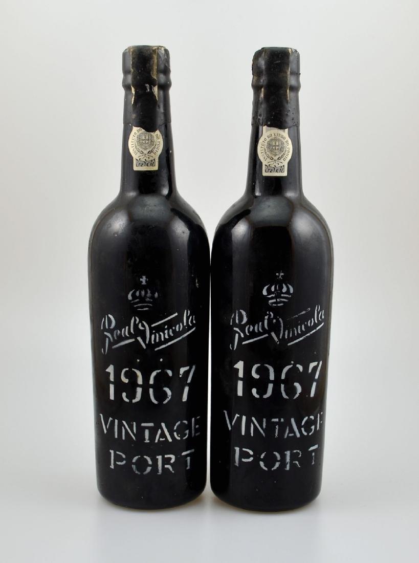 2 bottles of 1967 Real Vinicola Vintage Port, filling