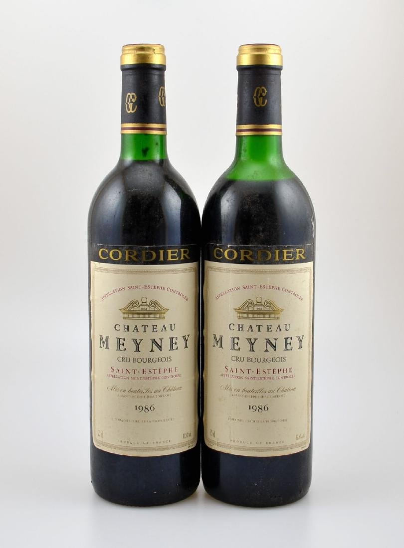 2 bottles of 1986 Chateau Meyney, Saint- Estephe