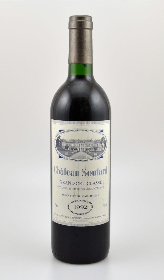 3 bottles of 1992 Chateau Soutard, Saint- Emilion