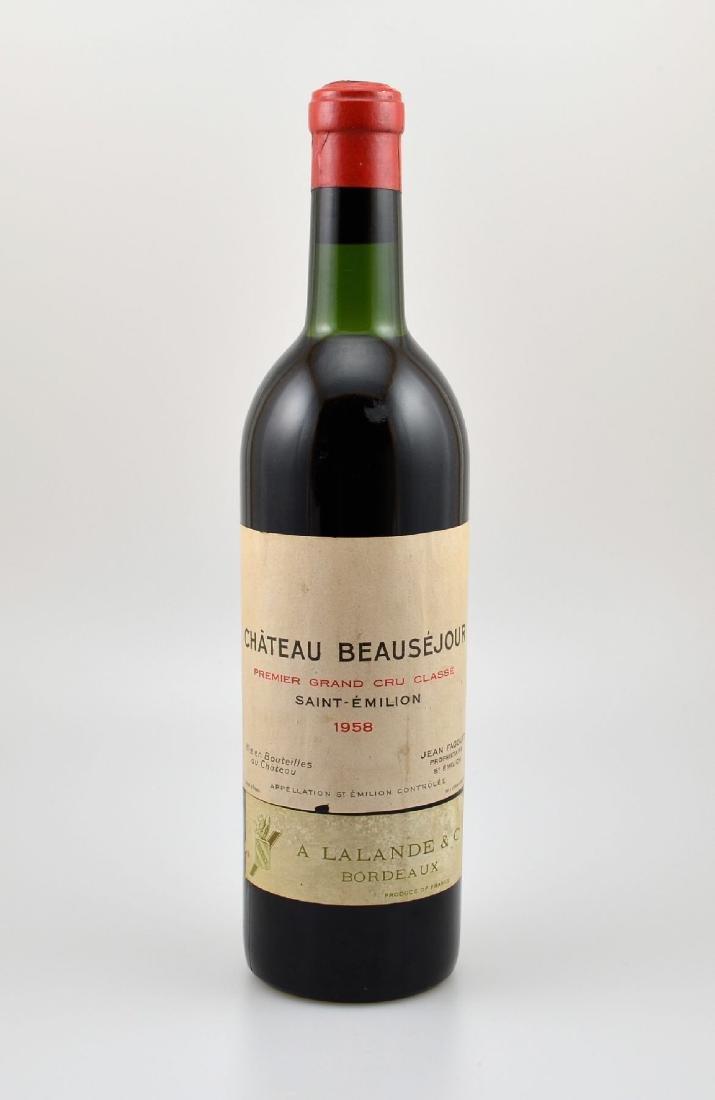 1 bottle 1958 Chateau Beausejour, Saint- Emilion