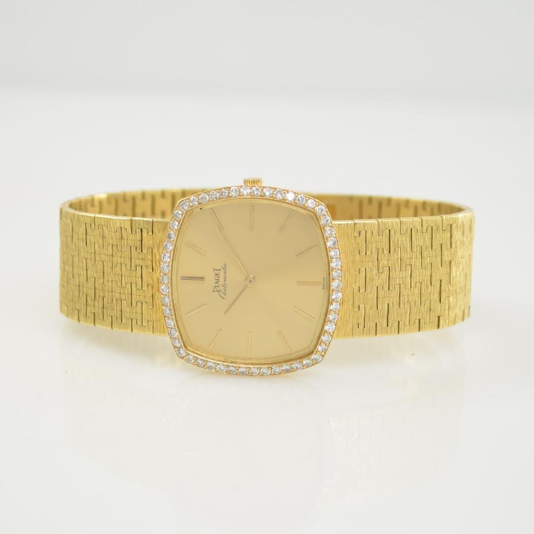 PIAGET 18k yellow gold diamond set gents wristwatch