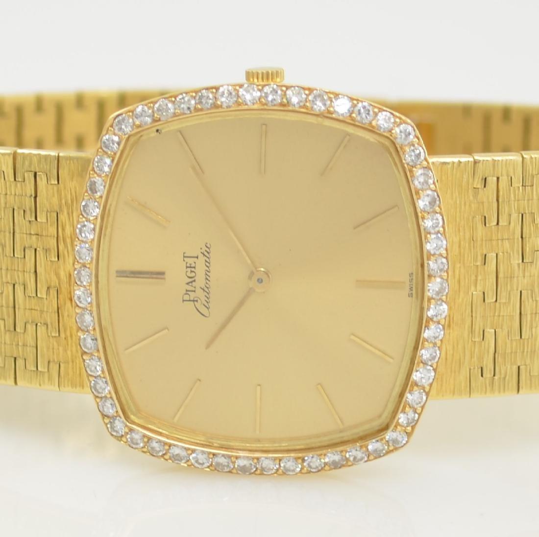 PIAGET 18k yellow gold diamond set gents wristwatch - 2