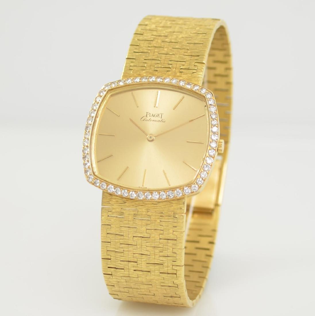 PIAGET 18k yellow gold diamond set gents wristwatch - 3