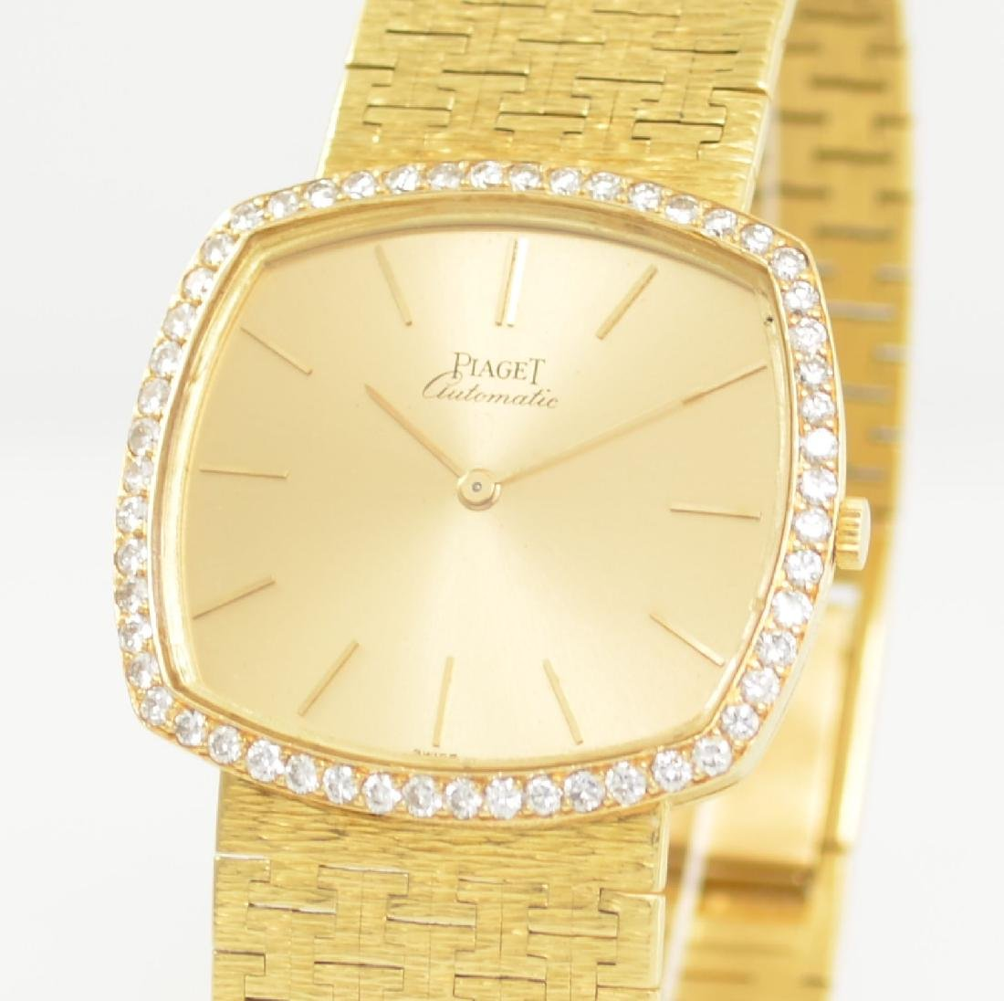 PIAGET 18k yellow gold diamond set gents wristwatch - 4
