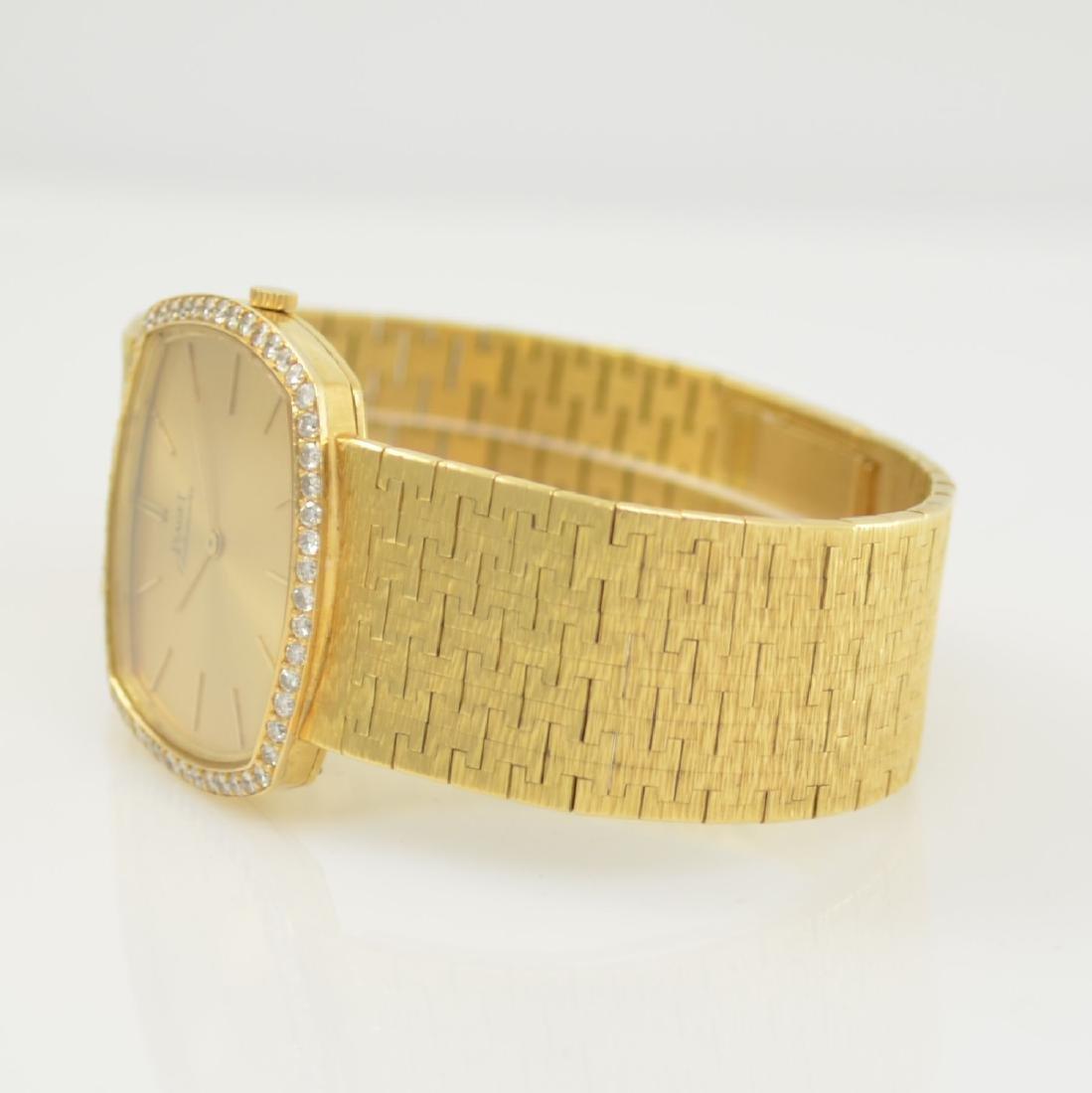 PIAGET 18k yellow gold diamond set gents wristwatch - 5