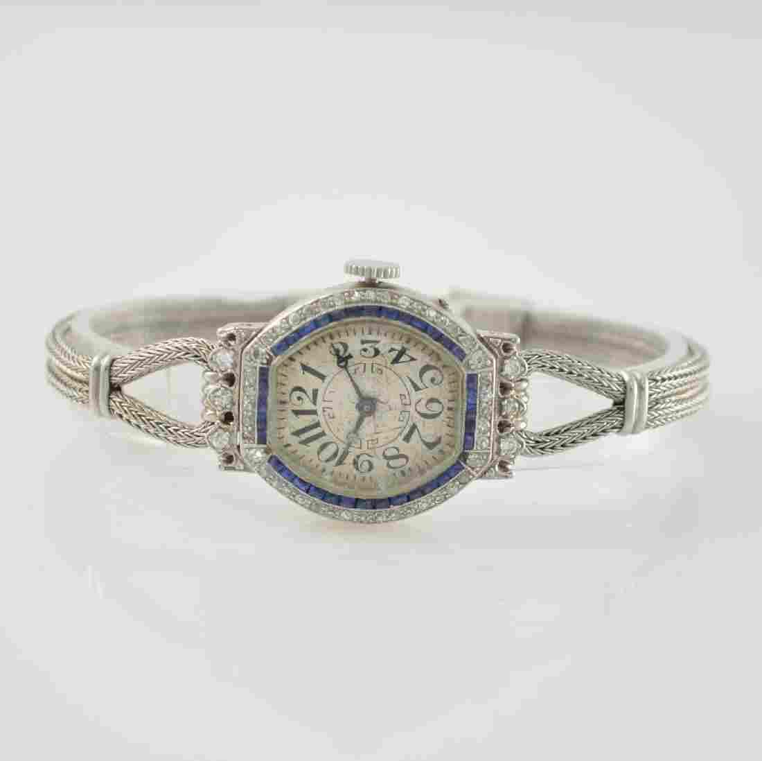 WALTHAM platinum ladies wristwatch, USA around 1912