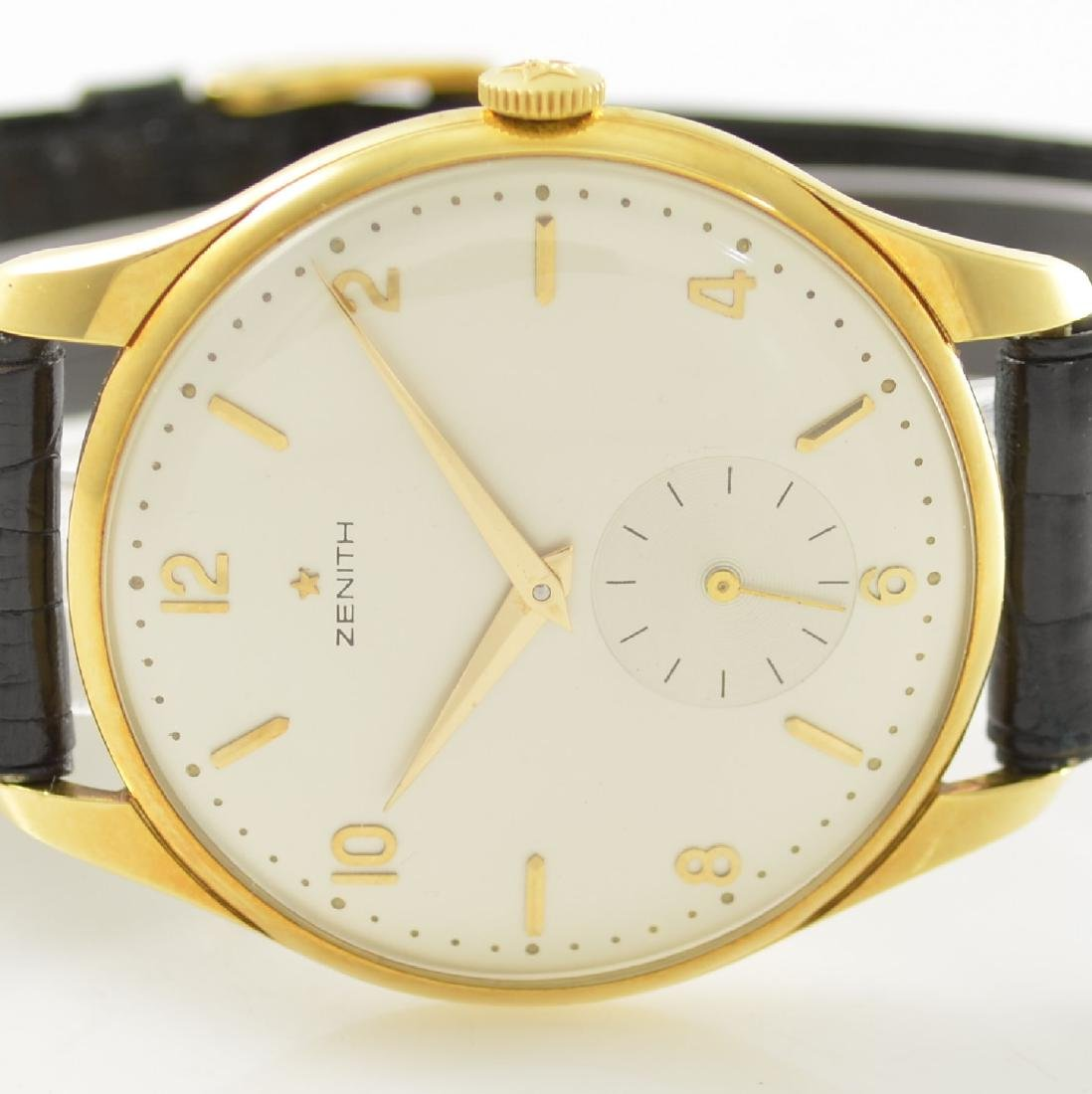 ZENITH oversized 18k yellow gold gents wristwatch - 2