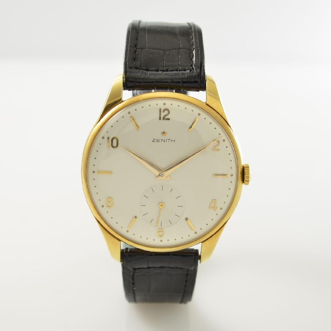 ZENITH oversized 18k yellow gold gents wristwatch - 3