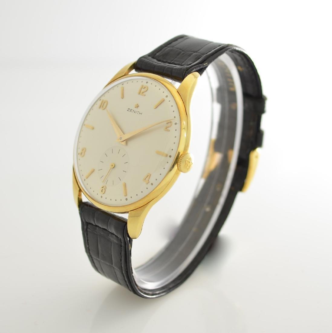 ZENITH oversized 18k yellow gold gents wristwatch - 4
