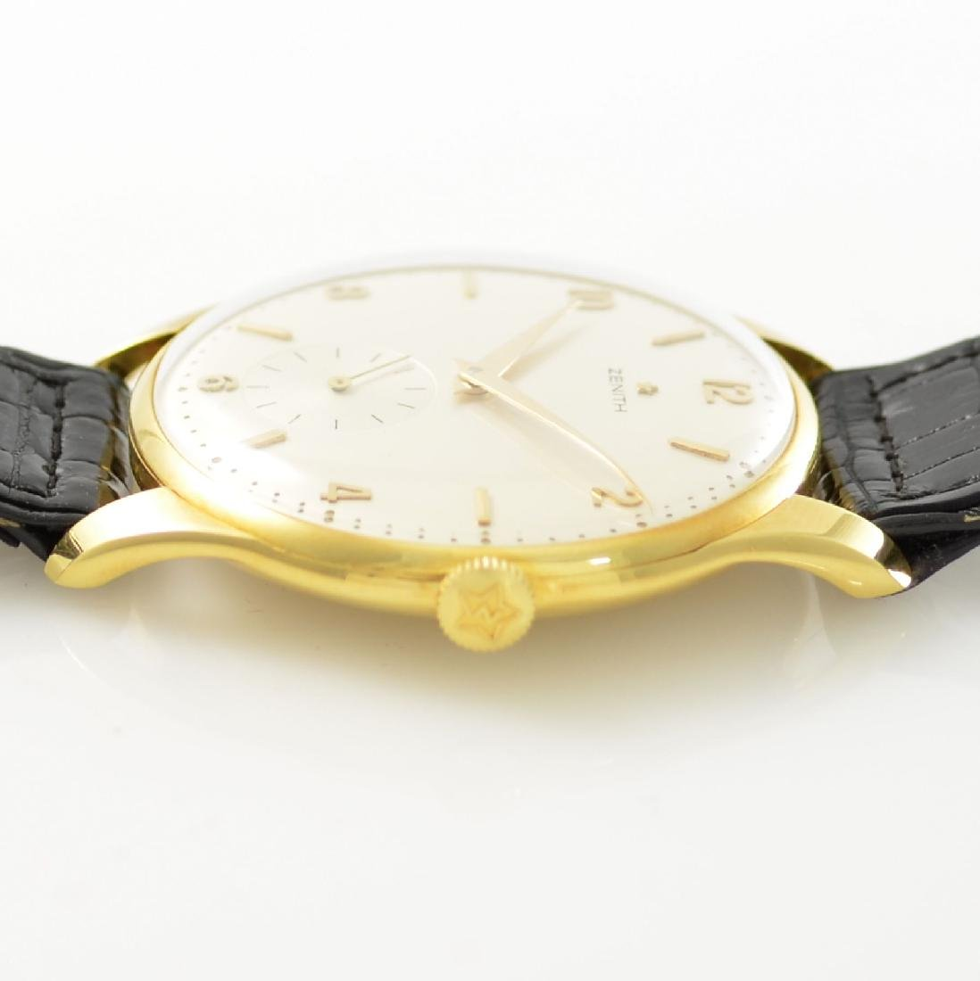 ZENITH oversized 18k yellow gold gents wristwatch - 6