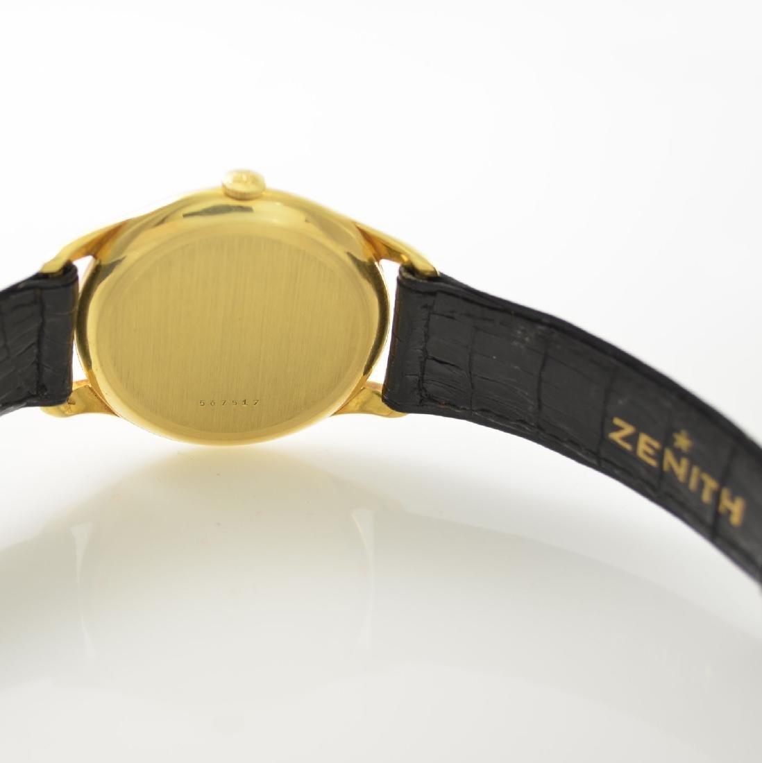 ZENITH oversized 18k yellow gold gents wristwatch - 7