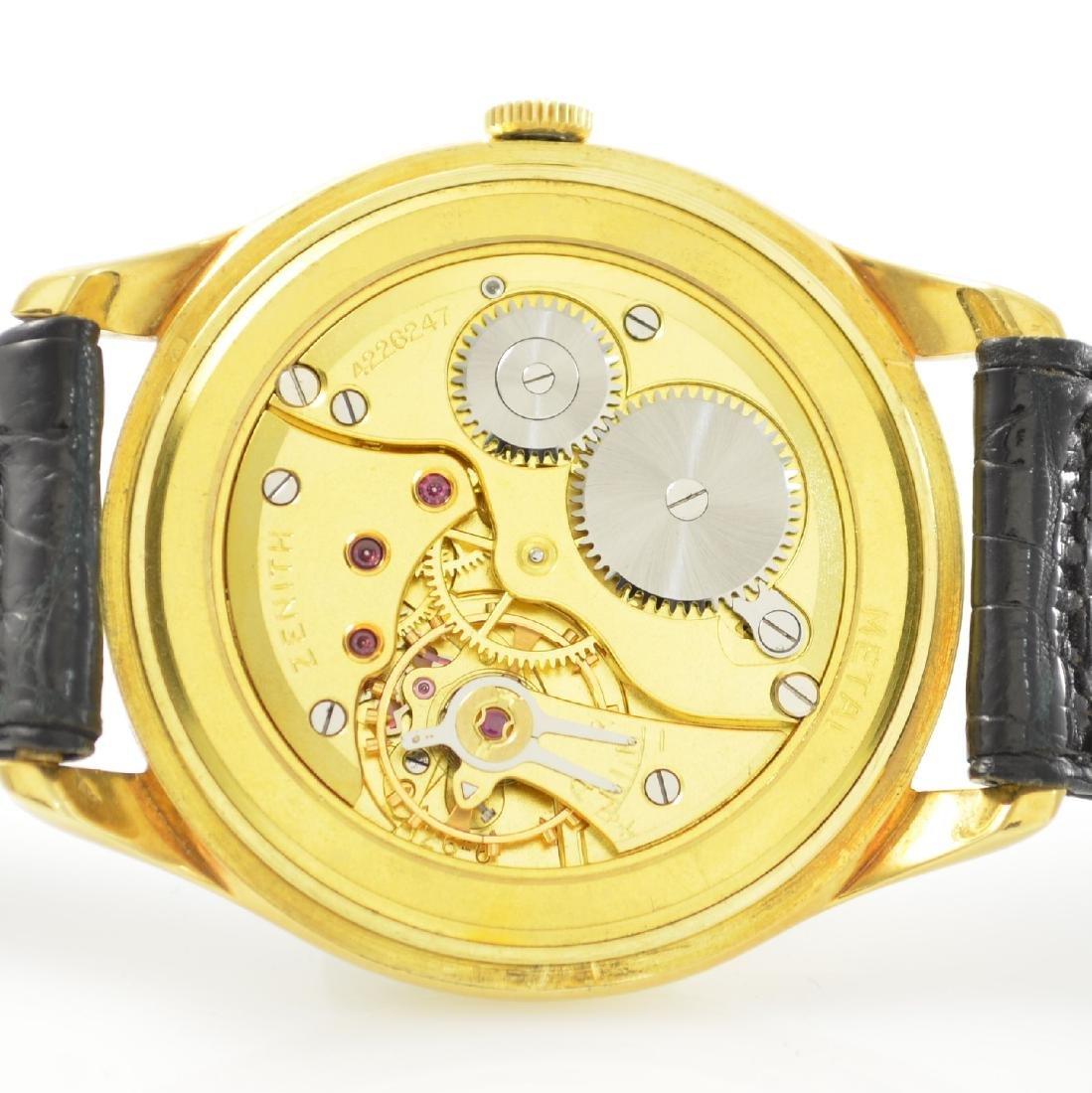 ZENITH oversized 18k yellow gold gents wristwatch - 8