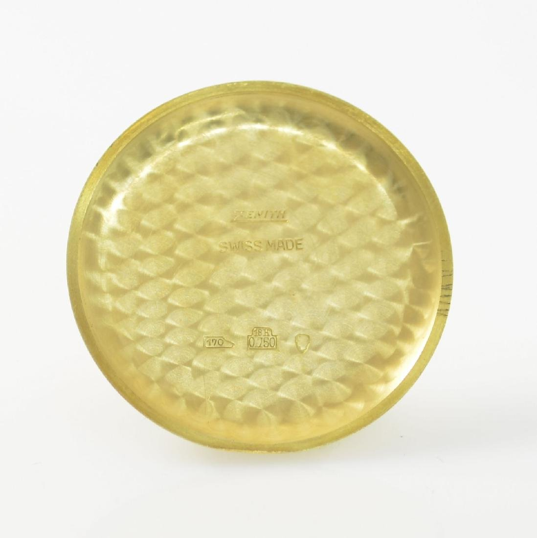 ZENITH oversized 18k yellow gold gents wristwatch - 9
