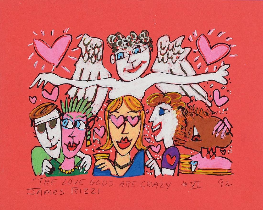 James Rizzi, 1950-2011, The Love gods are crazy