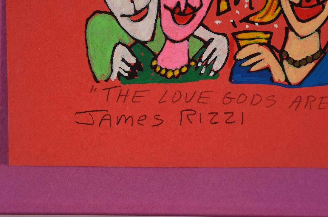James Rizzi, 1950-2011, The Love gods are crazy - 2