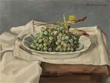 Werner Brand, born 1933 Löbau, still life withGrapes