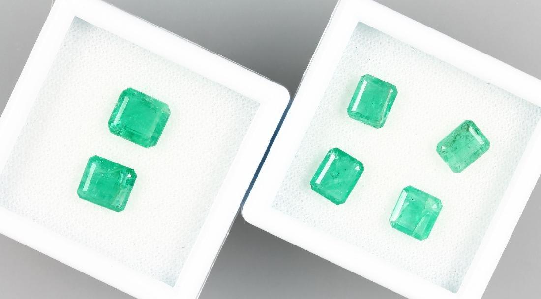 Lot 6 loose emeralds