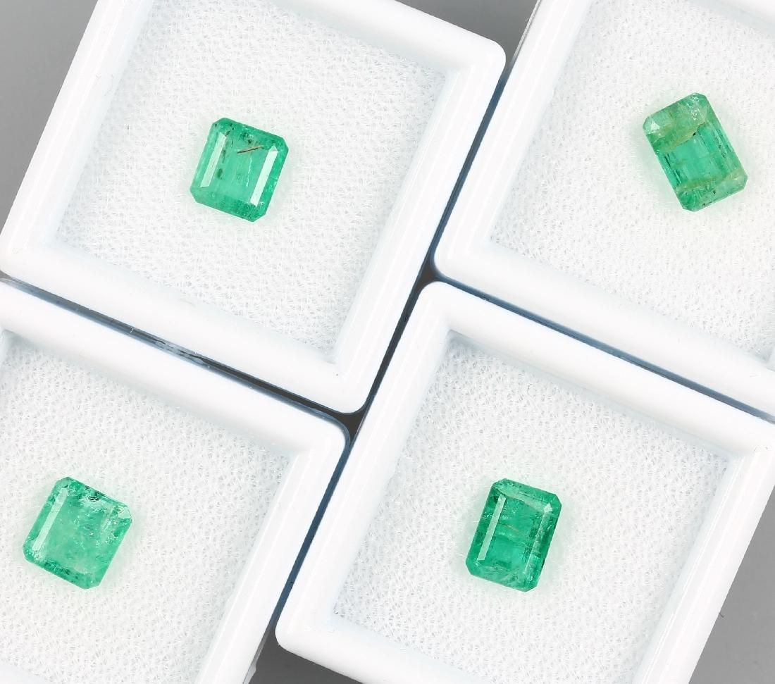 Lot 4 loose emeralds